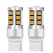 2 pièces 2019 nouveau T20 7440 W21W WY21W 15 SMD 3030 LED voiture clignotants ampoules réserve lampes moteur queue feux de freinage rouge blanc ambre