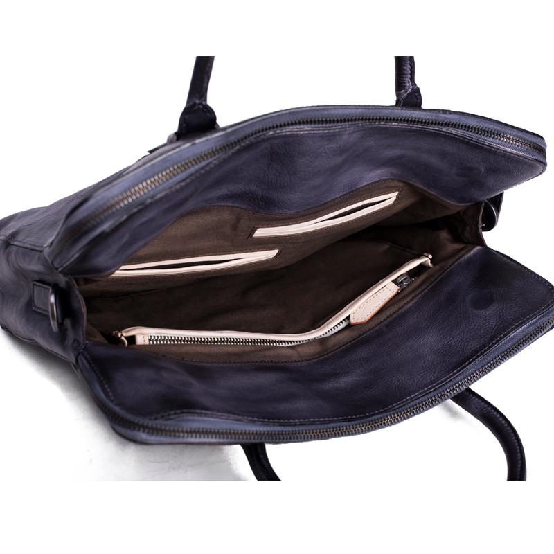 Vintage Vegetable Tanned Men Leather Briefcase Messenger Bag Laptop Bag 7