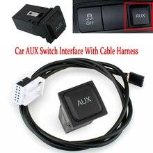 Автомобильный AUX переключатель Интерфейс адаптер в гнездо с жгутом кабеля для VW RCD510 RCD310 RNS315 Jetta 5 MK5 Golf 6 MK6 Scirocco 5KD