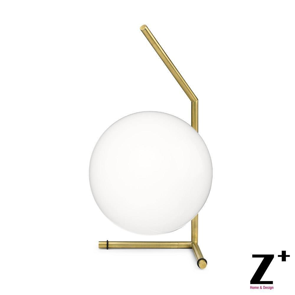 Moderní lampa Nordic Současná stolní lampa Ložnice na čtení Světlo Železná Zlatá Potrubní Lampa