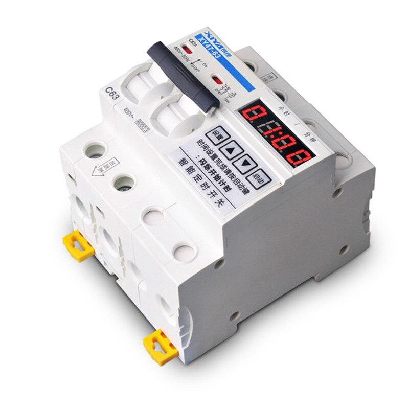 FleißIg 63a 12000 W Circuit Breaker Mit Timing Countdown-steuerung Zeit Funktion Mcb 0-99 Stunden 59 Minuten Timer Schalter Elektrische Ausrüstungen & Supplies Heimwerker