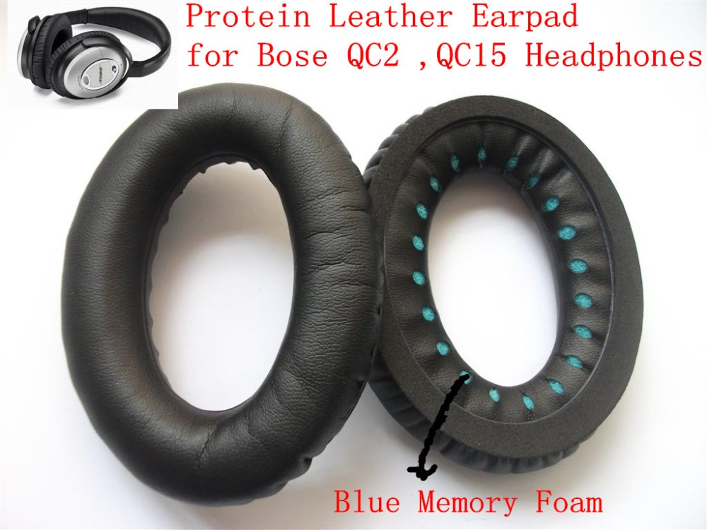 Linhuipad High quality soft protein leather ear cushion ear pads for QC2/QC15 headphone with free shipping by mail