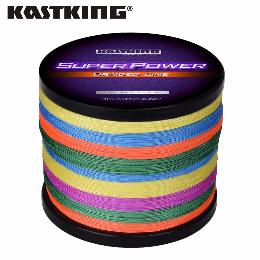 KastKing Multicolor Braid Line Super Strong Carp Colorful Braided Fishing Line 1000m 10-80LB PE Multifilament 4 Strands pro beros 300m pe multifilament braided fishing line super strong fishing line rope 4 strands carp fishing rope cord 6lb 80lb