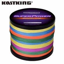 KastKing Multicolor Braid Line Super Strong Carp Colorful Braided Fishing Line 1000m 10-80LB PE Multifilament 4 Strands