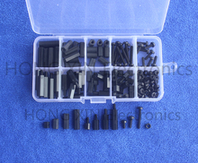 150Pcs M3 6-20mm Hex Spacers Nylon Screw Nut Set Washer Assortment Standoff Kit
