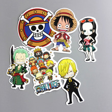 6 Pcs/lot Japanese Anime Cartoon Luffy Nami Funny Sticker Decal For Car Laptop Notebook Backpack Waterproof Kids Stickers Toys