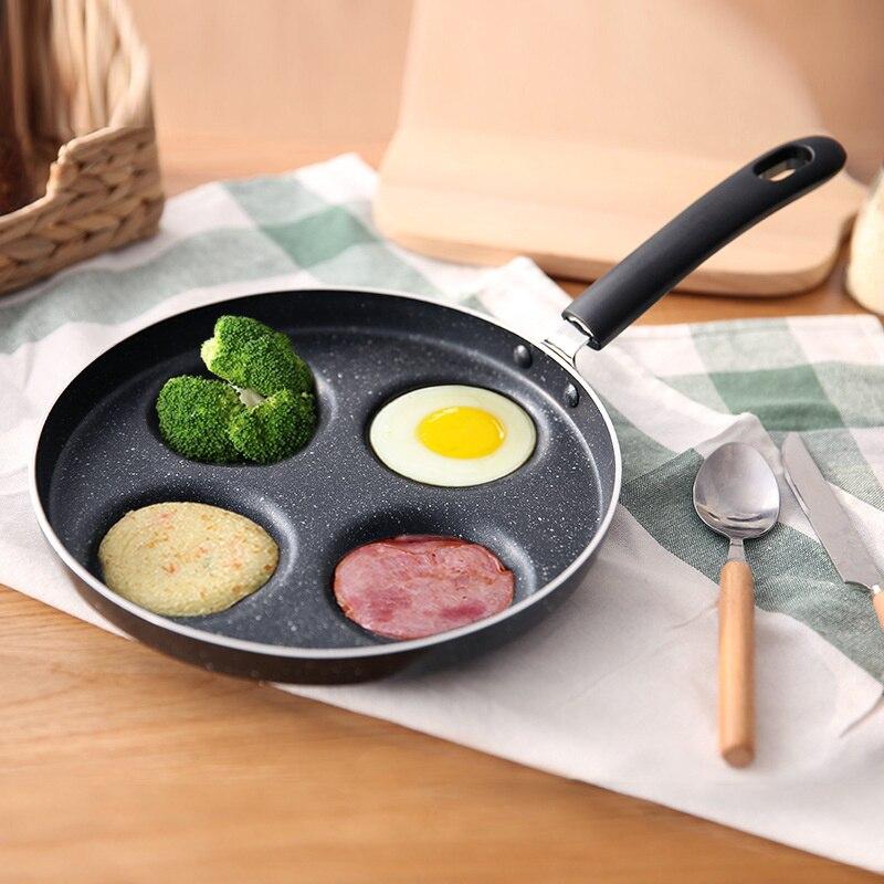 Fried Egg Pot Non-stick Pan Household Gas Stove For Omelet Artifact Egg Hamburger Machine Mold Poached Egg Frying Pan WF626928