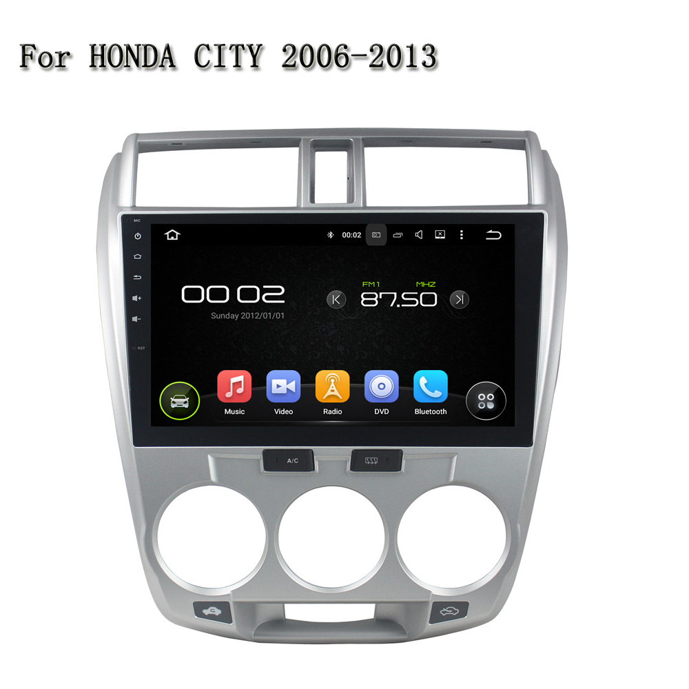 10.1 Inch Android 5.1.1 Quad Core Car Multimedia System Support Video Out ,DVR,TPMS,With BT,Mirror Link For Honda CITY 2006-2013