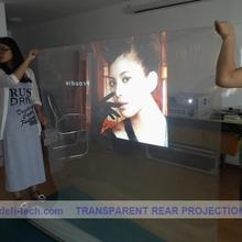 DfLabs Профессиональный задний проекционный экран пленка, которая имеет высокий коэффициент пропускания и рассеивания светильник