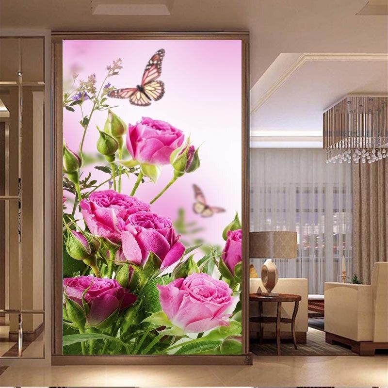 Diamant bricolage broderie diamant mosaïque papillon fleur diamant brodé rose fleurs point de croix 5d le diamant broderie