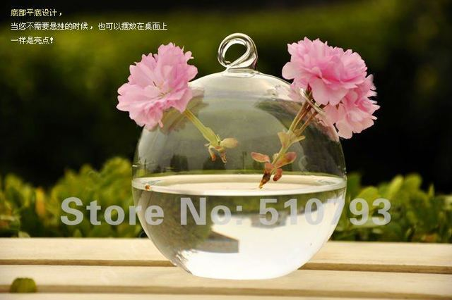 100% high quality ceiling hanging ball flower vase, drop ball, home or wedding decoration 4pcs/lot free shipping