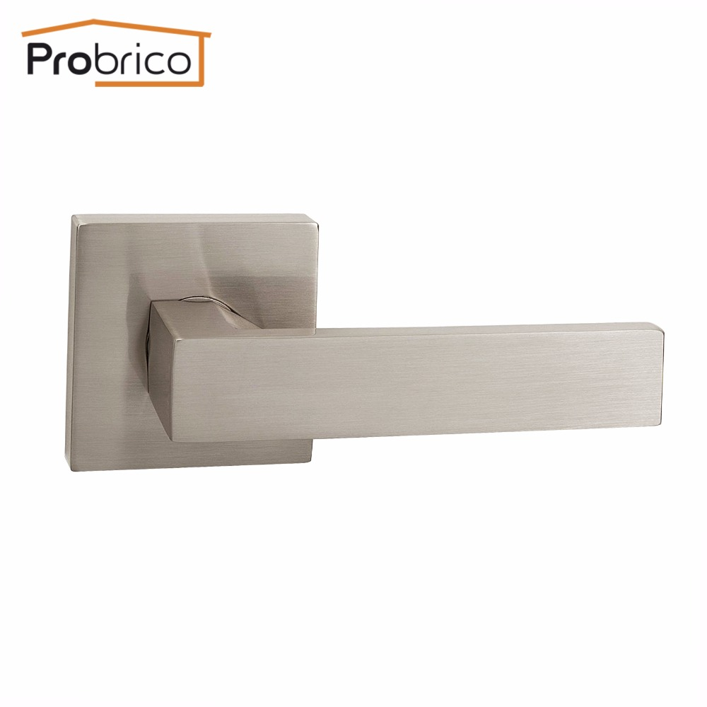 Probrico Stainless Steel Passage Interior Door Lock Set Brushed ...