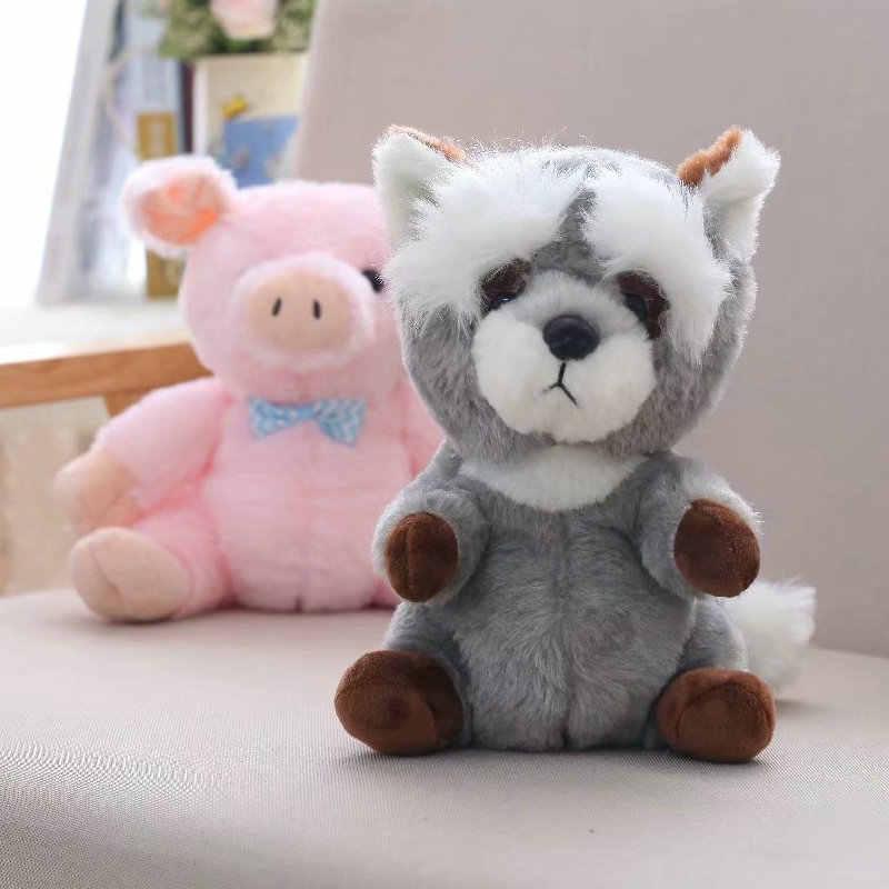 30 cm Bebê Recém-nascido Travesseiro porco/Animais De Pelúcia Recheado Kawaii Guaxinim de Pelúcia Macia Do Bebê Toy Kids Brinquedos Para Crianças quarto de boneca