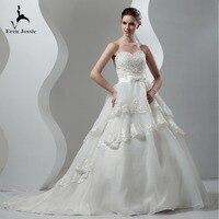 Eren Jossie Fantastic Design Court Train Royal Bridal Wedding Gowns With Beaded Appliques Bow Corset Back Bridal Vestido