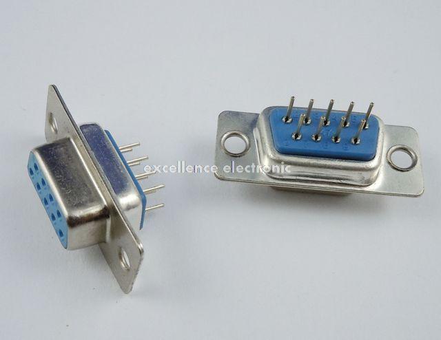 100 Pcs D-SUB DIP 9 Pin Female Solder Type Straight Connector Socket DB9F DB9 RS232 50 pcs new d sub 44 pin female solder type plug adapter connector 3 rows serial port connectors