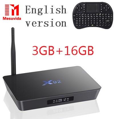 ФОТО Original X92 2GB/16GB Android 6.0 Smart TV Box Amlogic S912 OCTA Core CPU 16.1 Fully Loaded 5G Wifi 4K H.265 Set Top Box PK X96