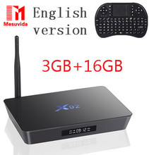 D'origine X92 2 GB/16 GB Android 6.0 Smart TV Box Amlogic S912 OCTA Core CPU 16.1 Entièrement Chargé 5G Wifi 4 K H.265 Set Top Box PK X96