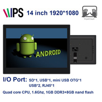 Alljoy 14 Inch Smart TV Android Tablet Kiosk All In One Display Touch Screen 1920 1080