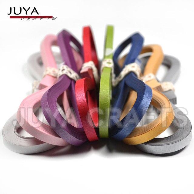 Juya papier metaliczny Quilling Set 2/3/5/7/10mm szerokość dostępna, 355mm/paski, 40 pasków/kolor