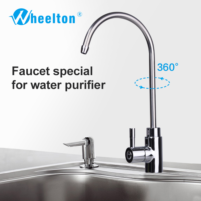 Wheelton NSF Certified Single Handle RO Faucet Kitchen Drinking Water Tap For Filter Purify System such as Reverse Osmosis ro water faucet for undersink drinking