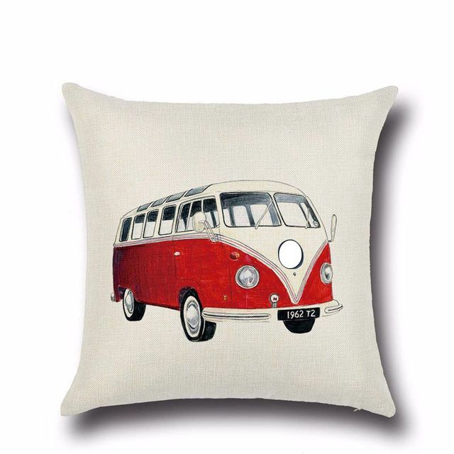 Car and Bus Printed Cushion Cover