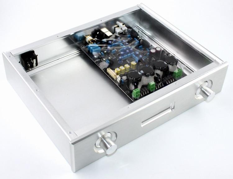 SENGTERBELLE WF1148 Silver Aluminum DAC Chassis AK4495 Enclosure Case For Dual AK4495 DAC Decoder Board 3502075 ecu decoder for renault silver