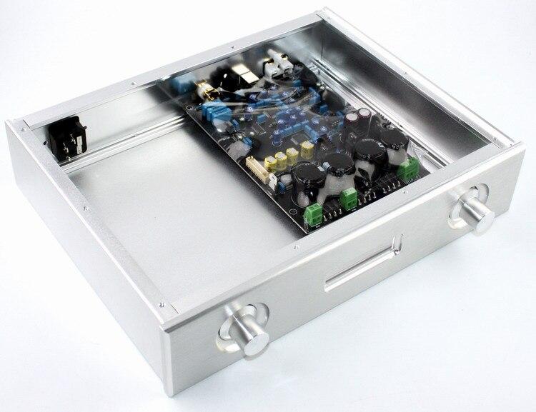 SENGTERBELLE WF1148 argent aluminium DAC châssis AK4495 boîtier de boîtier pour double AK4495 DAC carte décodeur