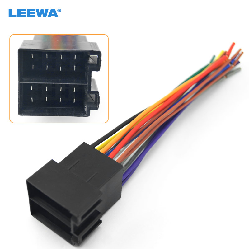 US $1.85 29% OFF|LEEWA Universal Male ISO Radio Wire Wiring Harness on