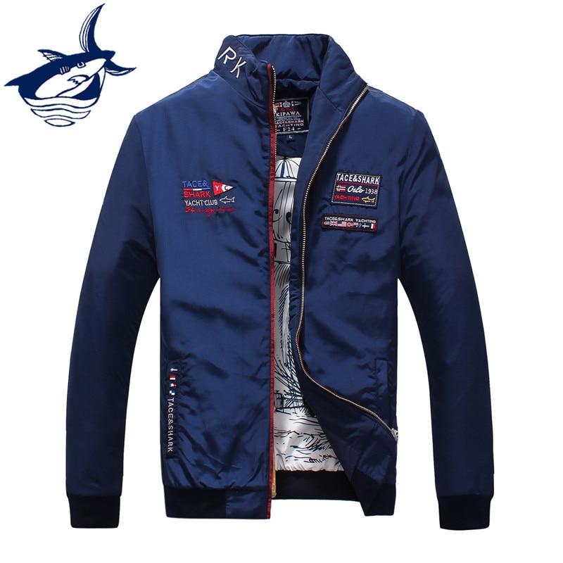 2018 מותג מקרית גברים מעילים ומעיל רזה צבאי טס כריש ז 'קט חולצה מעיל איכות גבוהה Chaquetas מעילים לגברים