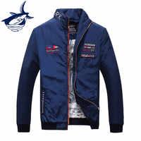 2019 marca Chaquetas informales para hombre y abrigo Thin Military Tace Shark jacket abrigo de alta calidad Chaquetas para hombres
