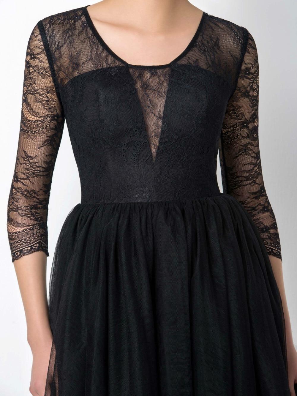 Dressv Sexy Short Black Cocktail Dresses 2017 Tulle A Line Sheer ...