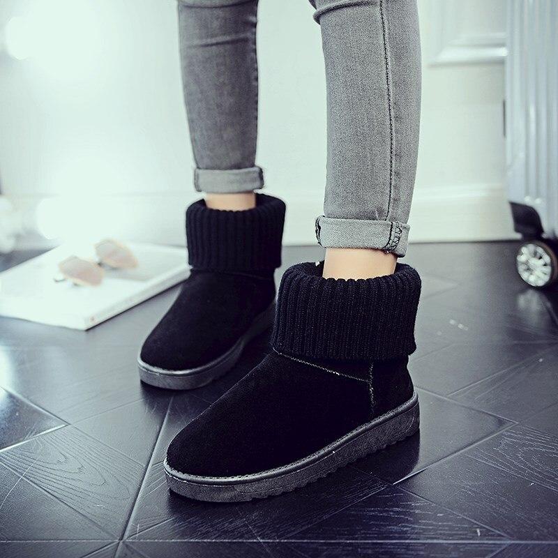 Pink Flat Non-Slip Snow Boots 1