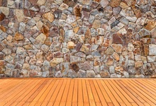 Laeacco Retro Stacked Stone Brick Wall Wooden Floor Photography Backgrounds Customized Photographic Backdrops For Photo Studio