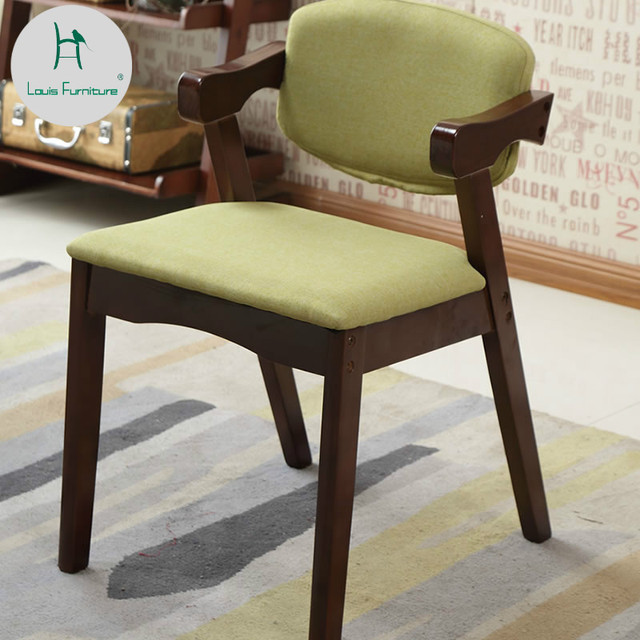 Louis Fashion Living Room Chairs Modern Household Backrest Student ...