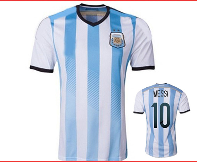 e7209678e63 The new World Cup 2014 Argentina national team soccer jersey football  clothes short-sleeved suit manufacturers custom