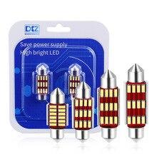 DXZ 2Pcs Festoon 31mm 36mm 39mm 42mm LED Bulb C5W C10W Super Bright 4014 SMD Canbus Error Free Auto Interior Doom Lamp Car Light