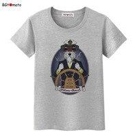 Bgtomato جديد مصمم أبدا إيقاف الكابتن الكلب تي شيرت المرأة شخصية كول صيف جديد قميص