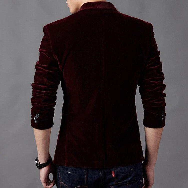 Casual Blazer Mens Wool Blends Suit Jacket Men 2017 Autumn Fashion Male Suits M-3XL Single Button Plue Size