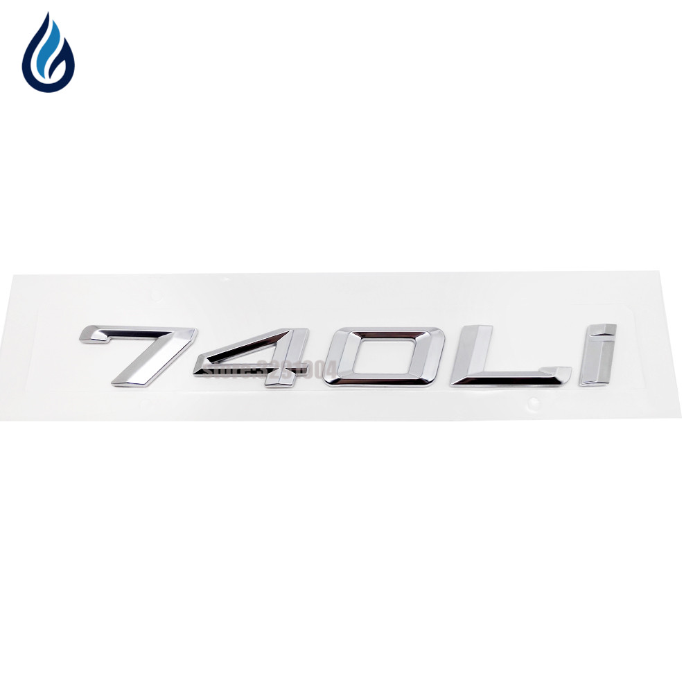 BLACK 745Li REAR TRUNK LETTERS BADGE EMBLEM FOR BMW 7-SERIES F01 F02