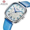 Julius Brand Fashion Women Watch Lady Square Casual Analog Quartz Watches Gold Dress Antique Wristwatch Clock Relogio Feminino