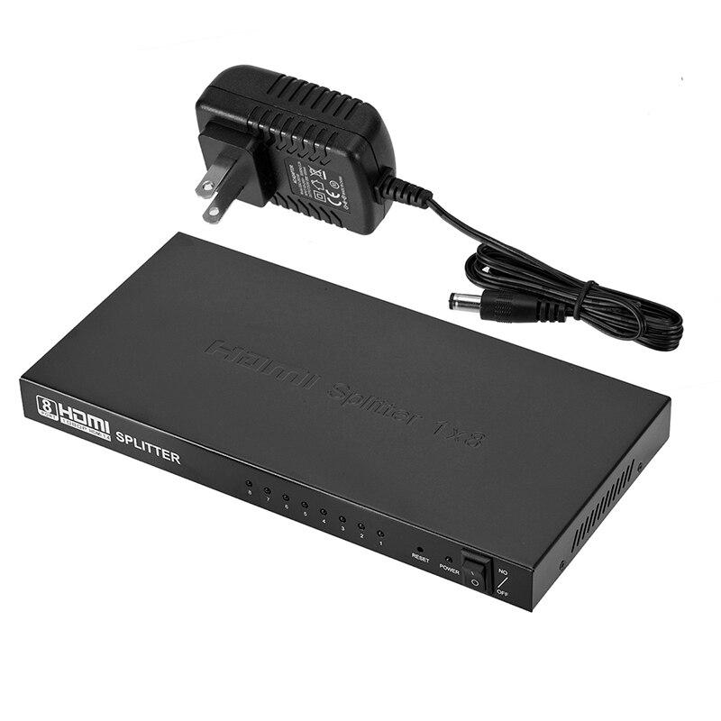 Répartiteur HDMI 4 K x 2 K 1 en 8 sorties commutateur HDMI répartiteur d'écran HDMI 1080 p HD pour moniteurs HDTV décodeurs de projecteurs