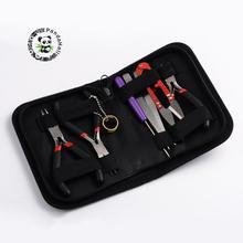 Разные цвета DIY ювелирных инструментов Наборы, круглый нос Щипцы для наращивания волос, сбоку Резка Щипцы для наращивания волос, Провода резак, ножницы, Бисер пинцет и бисера