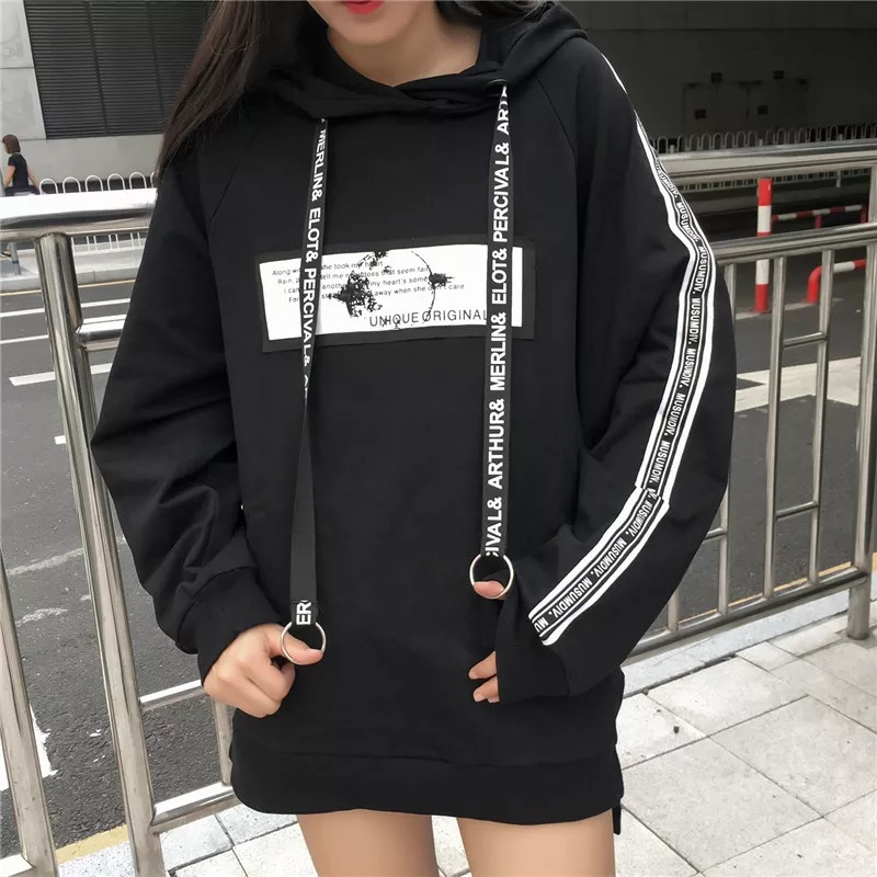 2019 Harajuku Women Hoodies Casual Sweatshirts Bangtan Boys Korean Hoodie Pullover Black Sweatshirt Fall Clothes Plus Size Woman