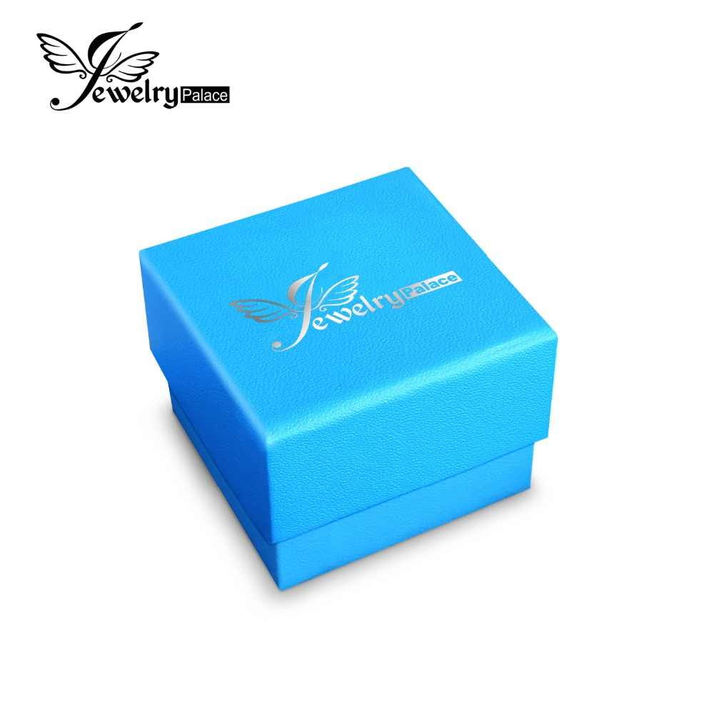 JewelryPalace High Quality Gift Boxes Package Box Two Models Blue Package Paper Box For Gift Wedding Brand Jewelry Small Big Box