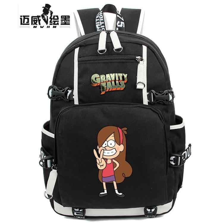 e0e24917b879 Модные Гравити Фолз рюкзак женщины мужчины сумка для девочек-подростков  Рюкзаки мальчик Косплэй Мэйбл Пайнс