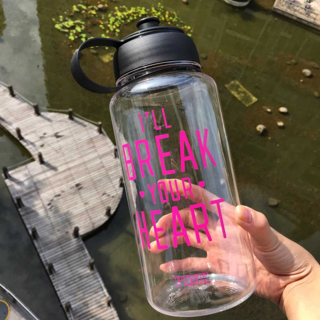 Kettle For Travel 1000 ML Portable Clear PINK Bottle Sport Bicycle Fruit Juice Water Bottles.Big capacity Sports Water Bottles