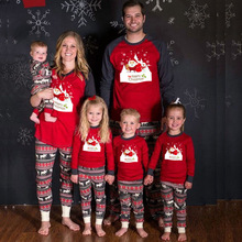 Christmas pajamas Parent-child dress Fashion christmas pjs christmas pajamas family suit mommy and me fsmily matching pajamas