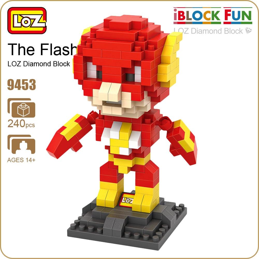 LOZ iBlock Fun Building Blocks The Flash Figure Comics Mini Superhero Toys Action Figure Super Heroes Diamond Block Pixels 9453