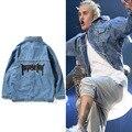2016 Justin Bieber Purpose Tour Denim Jacket Men Women Kanye West High Quality Brand Clothing Jeans Hip Hop Veste Coat Jackets