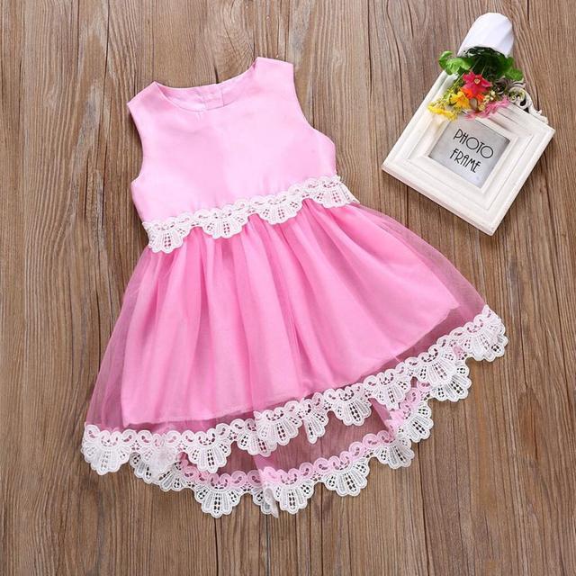 b4d7fc3b2c US $8.39 |MUQGEW Floral print summer dress baby girls Sleeve beach princess  costume dress 2018 robe Children unicorn party dress Clothing-in Dresses ...